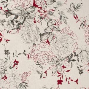 Ткань на отрез полулен 150 см 4912/3 цвет красный