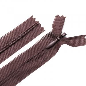 Молния пласт потайная №3 20 см цвет коричневый