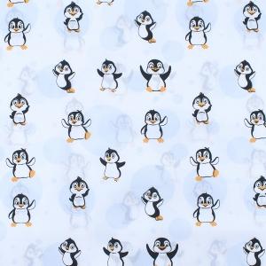 Ткань на отрез бязь плательная 150 см 447 Веселый пингвин