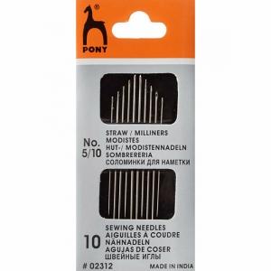 Иглы для наметки PONY 02312 размер 5-10 уп 10 шт