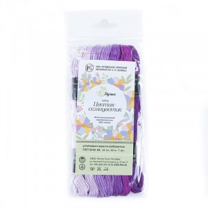 Нитки мулине Цветик-семицветик 10м ПНК набор 7 мотков 9 сиреневый лепесток