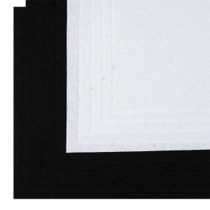 Набор листового фетра (жесткий) IDEAL 1мм 20х30см арт.FLT-HA8 уп.10 листов цв.белый,черный