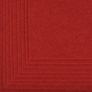 Фетр листовой жесткий IDEAL 1 мм 20х30 см FLT-H1 упаковка 10 листов цвет 617 бордовый