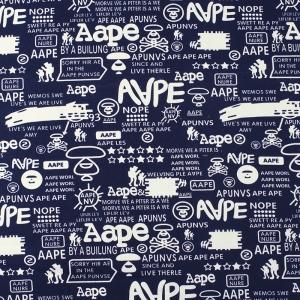 Ткань на отрез футер 3-х нитка Aape цвет темно-синий