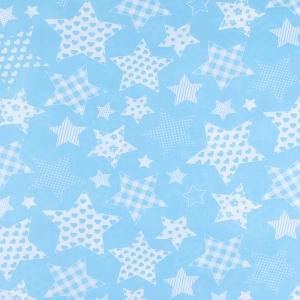 Ткань на отрез бязь плательная 150 см 1683/7 цвет бирюза