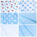 Ткань на отрез бязь плательная 150 см 1422/23 голубой фон белый горох