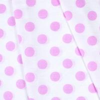 Ткань на отрез бязь плательная 150 см 1422/20А белый фон розовый горох
