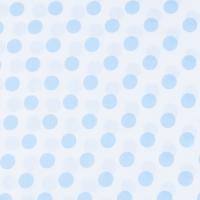 Ткань на отрез бязь плательная 150 см 1422/23А белый фон голубой горох