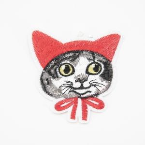 Аппликация кот в косынке 8*8,5см