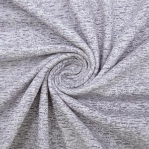 Ткань на отрез кулирка 1098-V14 Штрих цвет молочный