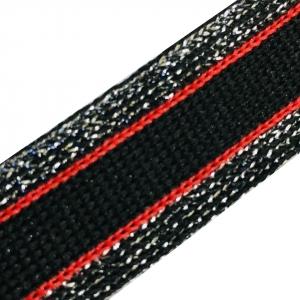 Лампасы №77 черный красный люпекс себро 2 см уп 10 м