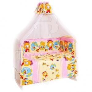 Набор в кроватку 7 предметов с оборками Кукла