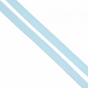 Резинка TBY бельевая 8 мм RB02183 цвет F183 голубой 1 метр