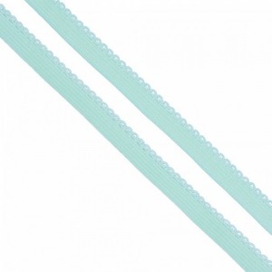 Резинка TBY бельевая 8 мм RB02199 цвет F199 мятный 1 метр