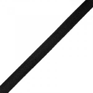 Тесьма киперная 10 мм хлопок 1,8г/см арт.08с-3495 цв.черный 005