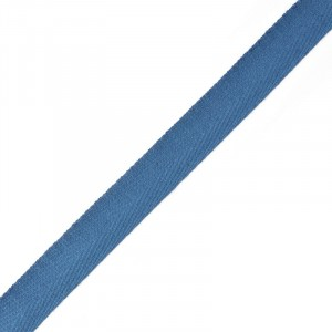 Тесьма киперная 17 мм хлопок 1,8г/см арт.12.2С-256К.17.032 цв.синий