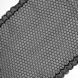 Кружево эластичное  18,5см черный 2274 уп 10 м