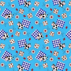 Вафельное полотно 45 см 144 гр/м2 0698/3 цвет голубой