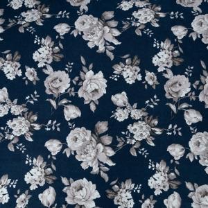 Ткань на отрез кулирка R6059-V1 Розалия цвет синий