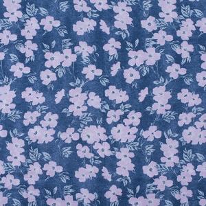 Купить ткань на отрез кулирка R5051-V3 Розовые цветы на синем напрямую от производителя - 1mtkani.ru