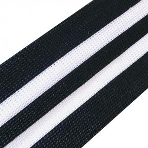 Лампасы №100 белый черный 5см 1 метр