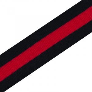 Лампасы №10 черная красная черная 3см 1 метр