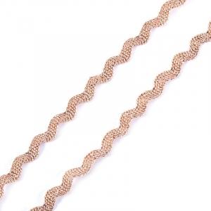 Тесьма плетеная вьюнчик (МЕТАНИТ) С-2914 (3621) г17 уп 20 м ширина 7 мм (5 мм) рис 8657 цвет 198