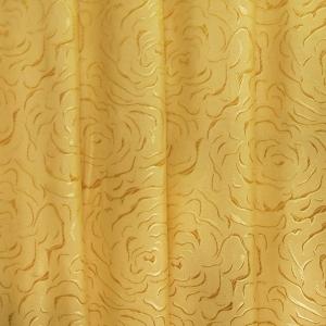 Портьерная ткань 150 см Роза цвет золото