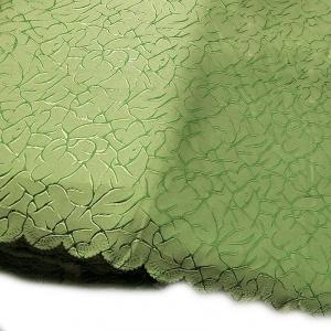 Портьерная ткань 150 см Мрамор цвет зеленый