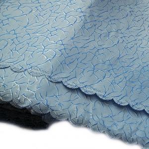 Портьерная ткань 150 см Мрамор цвет голубой