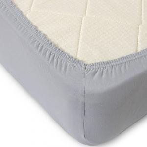 Простыня трикотажная на резинке Премиум М-2103 цвет серый 160/200/20 см