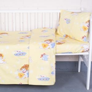 Постельное белье в детскую кроватку из бязи ГОСТ 92611 с простыней на резинке