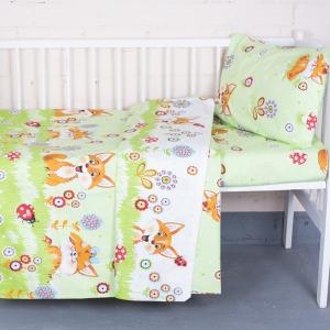 Постельное белье в детскую кроватку из бязи ГОСТ 89421 с простыней на резинке
