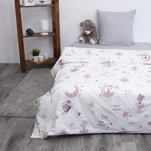 Детское постельное белье из поплина 1.5 сп Балеринки 3051