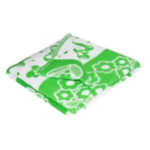 Одеяло детское байковое жаккардовое 140/100 см зеленый