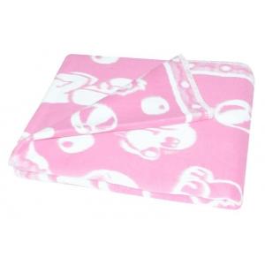 Одеяло детское байковое жаккардовое 140/100 см розовый