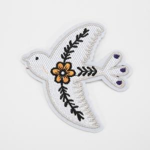 Аппликация птичка и цветок 9*10см