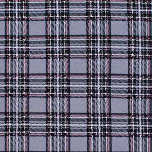 Ткань на отрез кулирка Клетка R5001-V5 цвет серый