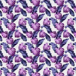 Ткань на отрез вафельное полотно набивное 150 см 3014/2 Тропики