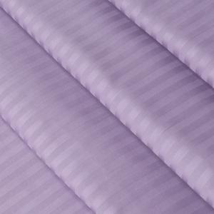 Ткань на отрез страйп сатин полоса 1х1 см 240 см 140 гр/м2 В001 цвет лавандовый