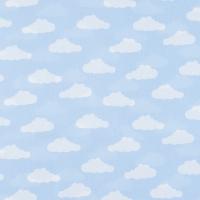 Ткань на отрез бязь плательная 150 см 1745/3 цвет голубой