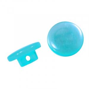 Пуговицы Т-18 11 мм цвет голубой упаковка 12 шт