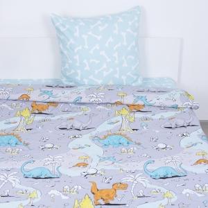 Детское постельное белье ВКТ009 Динозавры 1.5 сп поплин