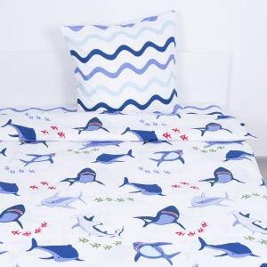 Детское постельное белье ВКТ008 Акулы 1.5 сп поплин
