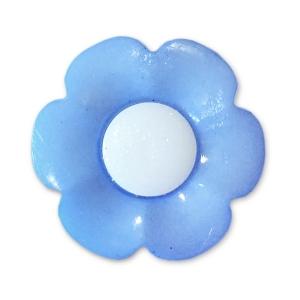 Пуговица детская сборная Цветок 17 мм цвет голубой упаковка 10 шт