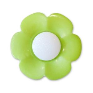 Пуговица детская сборная Цветок 17 мм цвет салатовый упаковка 10 шт