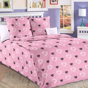 Ткань на отрез бязь 120 гр/м2 150 см Валери 1 цвет розовый 204601