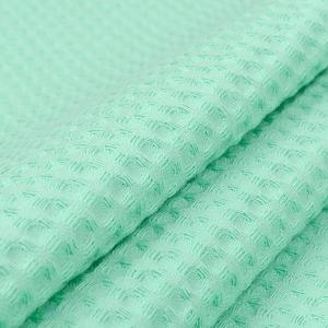 Ткань на отрез вафельное полотно гладкокрашенное 150 см 240 гр/м2 7х7 мм цвет 304 салатовый