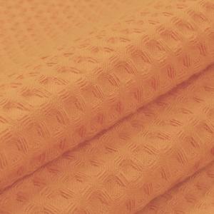 Ткань на отрез вафельное полотно гладкокрашенное 150 см 240 гр/м2 7х7 мм цвет 113 морковный