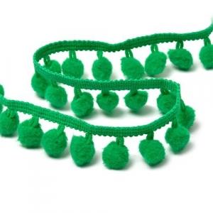 Тесьма с помпонами TBY-LC-20 ширина 15-20 мм цвет S540 (118) зеленый